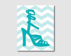 Wall Art  Modern Shoes on chevron  Room by SusanNewberryDesigns, $15.00