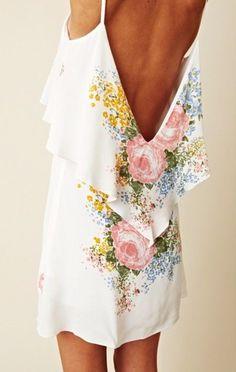 Backless floral dress