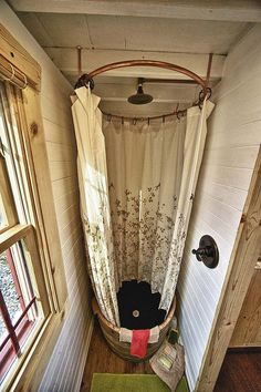 shower ideas, tiny homes, cabin, wine barrels, tini hous