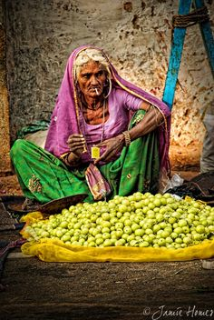 Street seller in Pushkar by Jamie Homes