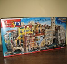 Here's a challenging three dimensional jigsaw puzle. It's by Wrebbit and is a Puzz 3D puzzle of Venice Italy with 1580 pieces. Love the subject matter!