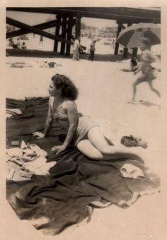 #vintage #beach #1940s #swimsuit #summer