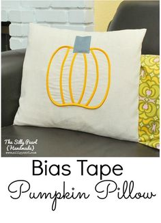 Bias Tape Pumpkin Pillow -- The Silly Pearl