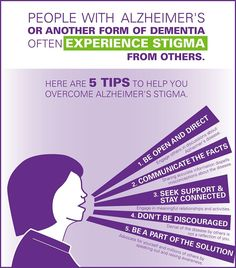 People with Alzheimer's or another form of dementia often experience stigma from others. Here are 5 tips to help you overcome Alzheimer's stigma. #ENDALZ #Alzheimers #tgen #mindcrowd www.mindcrowd.org