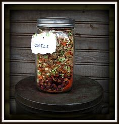 Rainy Day Food Storage: Meals In Jar Recipes, many call for freeze dried ingreds but I'd think home dried would work too, maybe just not as long term?