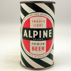 Vintage Alpine Beer Can