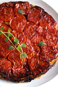 in the kitchen:   tomato tatin