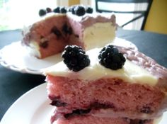 Blackberry Cake with Cream Cheese Filling
