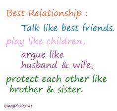 Best Relationship | Crazy Diaries