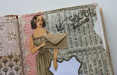 besottment by paper relics: Sewn Journaling Pages Part IV