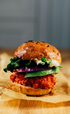 The 3-ingredient veggie burger sounds tasty and easy.