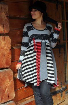 Fantasy striped dress tunic by jamfashion on Etsy, $51.00