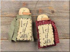 LOVE Honey & Me!! C1128 Let It Snow Ornament Set (2A)