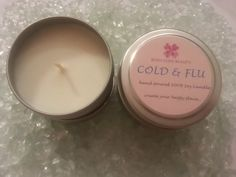 Cold & Flu formula 100 Natural Soy Candle  4oz by BodyLoveBeauty, $5.99  Smells like Vicks...aahhh...