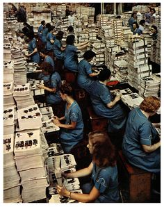 Sears Roebuck Catalogue Assembly Line    1942.