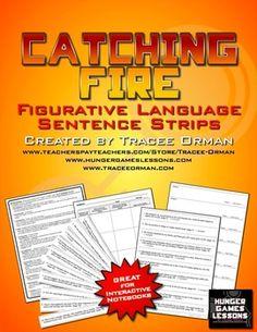 #FREE Catching Fire Figurative Language Sentence Strips