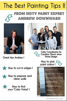 The Best Painting Tips from HGTV Paint Expert Andrew Downward - Paint coordinator for Candace Olson