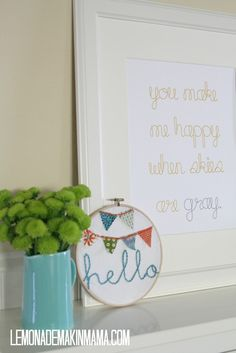 You make me happy when skies are gray print. $20.00, via Etsy.