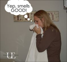 get your towels smelling fresh by washing with vinegar and then again with baking soda :)  they're in the wash now :)