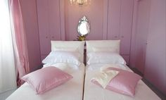 Pink room in the Stromboli, Italy home of Stefano Gabbana and Domenico Dolce