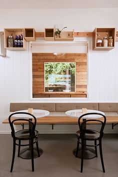 canteen portland, interior, juic, banquettes, boxes, banquette seating, shelv, cubbies, portland oregon