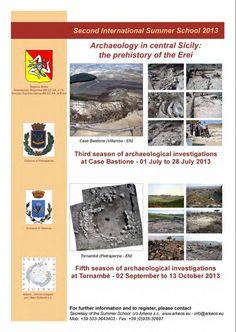 Curso excavación en el centro de Sicilia (Italia), del 1 al 28 de julio y del 2 de septiembre al 13 de octubre de 2013
