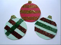 Fast & Mess Free Glitter Ornaments