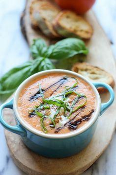 Caprese Tomato Soup
