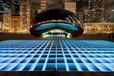 lumin field, millennium park, parks, art, cloud, chicago, light show, gate, fields