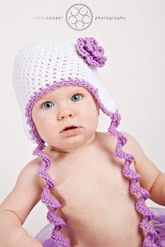 Crochet Pattern Curly Tie Beanie with Flower Stack by RAKJpatterns, $3.99