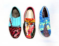 Dharma Trading Co. Featured Artist: Elaine Warfield- hand painted shoes and scarves