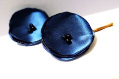 Teal Blue Poppy Bobby Pins by harmony5 on Etsy