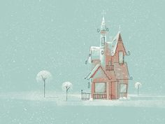 Winter House Doodle
