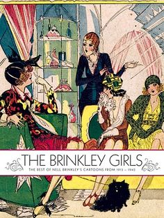 Nell Brinkley deco bookshelf, nell brinkley, illustr fashion, cartoon coutur, art deco