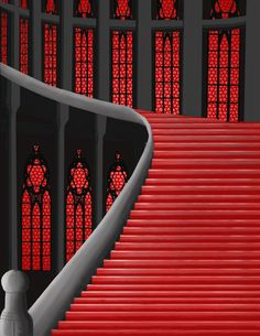 Red & Black Staircase