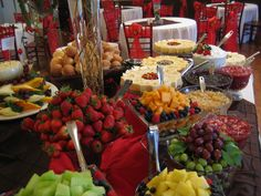 Incredible fruit and cheese cake display!! Gorgeous colors