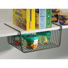 InterDesign York Lyra Under the Shelf Basket