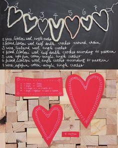 Crochet Garland Heart - Tutorial  ❥ 4U // hf