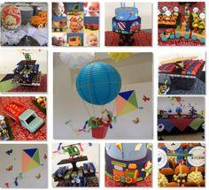 Festa de Menino, uma linda festa com tema Meios de Transportes