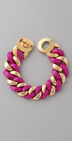 Fuschia & gold