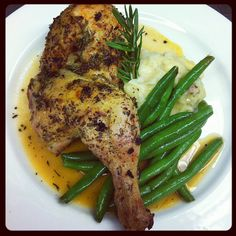 Green Beans with Orange Beurre Blanc foto