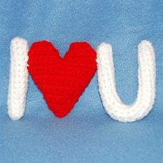 I Heart U Free crochet Pattern by PixieKitten downloadable pdf on page