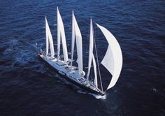 The Phocea which is the largest sailing boat of its kind. Owned by the equally glamorous Mouna Ayoub.  My all-time favorite sailing vessel....