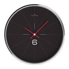 Oliver Hemming - OH wall clock chrome pie 30b