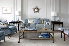 Sarah Richardson London Flat Family Room - cool coffee table