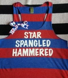 Star Spangled Hammered Striped Tank by RufflesWithLove on Etsy, $28.00