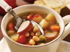 Slow Cooker Smoked Sausage and Bean Soup