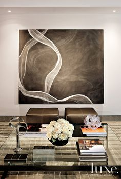 """Comfortable Contemporary"" ART AFFINITY: artful tabletop via Luxe Blog"