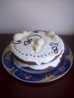 Orange & White Chocolate Mouse Cake!