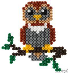 Uhu - Hama Perlen // Owl - Perler Beads